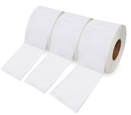 бумажные этикетки на ленте в рулонах